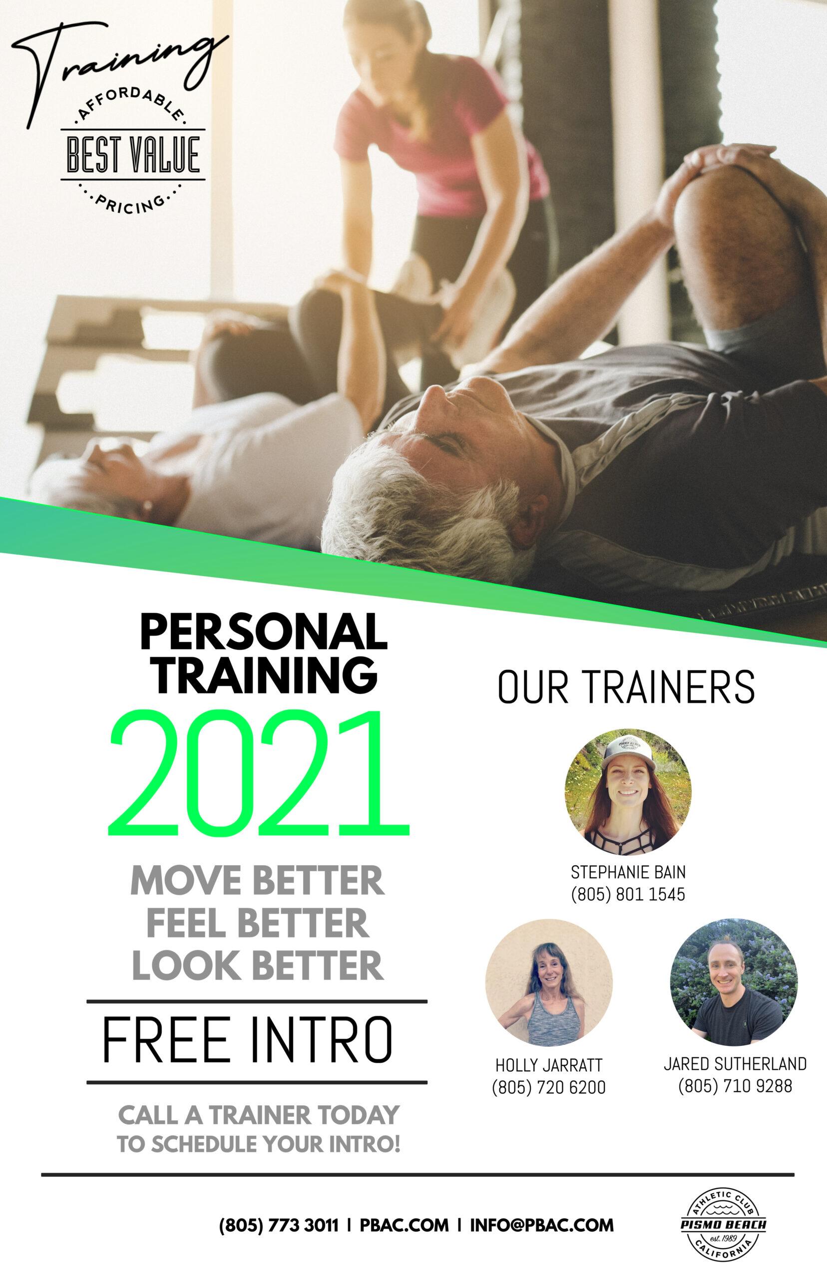 Personal Training - Pismo Beach Athletic Club